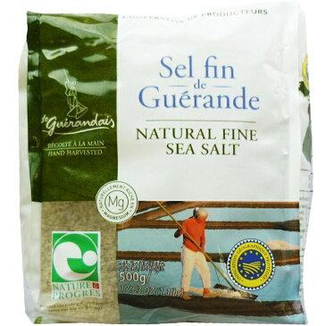 ゲランドの塩 粗塩 500g / フランス産 未精製塩 テーブルソルト 無添加 あら塩 パン材料 天日塩