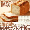 【送料無料】 はるゆたかブレンド 10kg ( 1kg×10袋 ) パン用小麦粉 強力粉 / 北海道産 パン用粉 小麦粉 国産 ハルユタカ 小麦 / パン作り 食パン ホームベーカリー パン材料 パン 小麦 こむぎこ 麦 粉 ぱん 10キロ 【同梱不可】