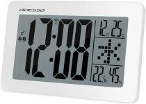 大画面電波クロック【送料無料SALE】KD-10ADESSOアデッソ置時計壁掛け時計置掛兼用日付表示アラームスヌーズ温度湿度表示電波時計お祝いギフトプレゼント