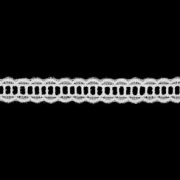 綿レース白 生地 手芸切り売り 約15mm幅