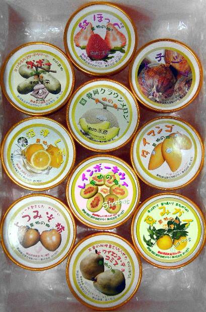 【果物の郷】手作りフルーツシャーベットおまかせ10カップ入りセット