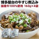 牛すじ煮込み 国産 160g×4袋 牛筋 牛スジ煮込み おつまみ 時短調理 レトルト メール便