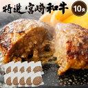【ふるさと納税】【極・塩ハンバーグ】前沢牛100%(8個セット) ブランド牛100% 訳あり