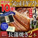 父の日 うなぎ グルメ 食べ物 蒲焼き 国産 鹿児島産 長蒲焼き2本セット 約110g×2 うなぎの里 ギフト(鰻 ウナギ)