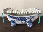 陶器/贈り物/ギフト/かわいい/おしゃれな丸皿/沖縄風/南国風/民彩/MadeinJapan美濃焼の素敵な茶碗ですやちむん風