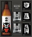 球磨焼酎(白岳900くまモンの製氷器ギフトセット・グラス付)