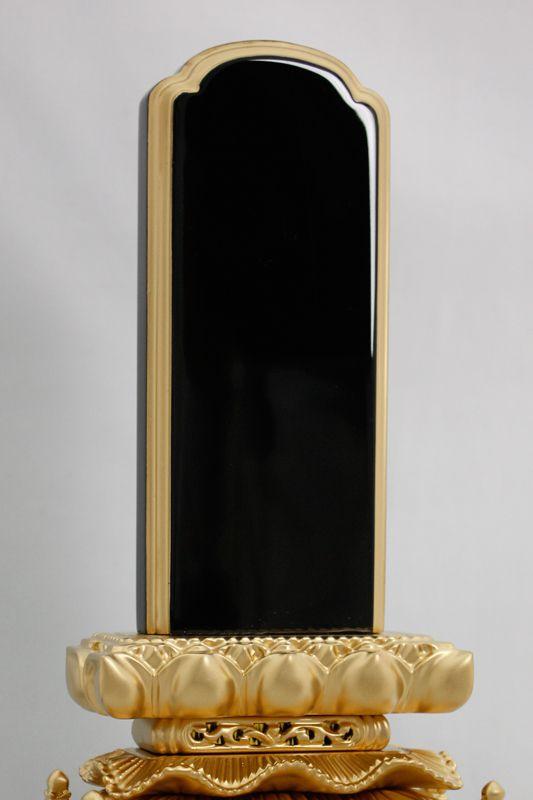 (高さ28.0m) 高級 宗派不問 漆塗り純金仕上げ 黒 5.5寸 上等猫丸 塗り位牌 文字入れ可 【 送料無料 】 位牌 木製