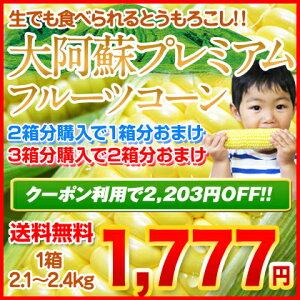 日本最速級の出荷を誇るスイートコーン名産地、熊本から朝採り直送!生でも食べられるとうもろ...