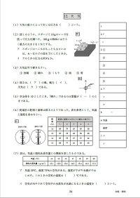 宮崎県令和3年高校入試合格できる理科