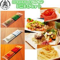 【送料無料】九州熊本の逸品阿蘇健康農園3種の中から選べる【組み合わせ自由パスタセット】トマトで作った赤のパスタバジルで作った緑のパスタガーリックで作った白のパスタ※クリックポスト便商品