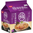 【月間優良ショップ】日清ラ王 豚骨醤油ラーメン 30食 (5食×6袋) 袋麺 全粒粉入り麺