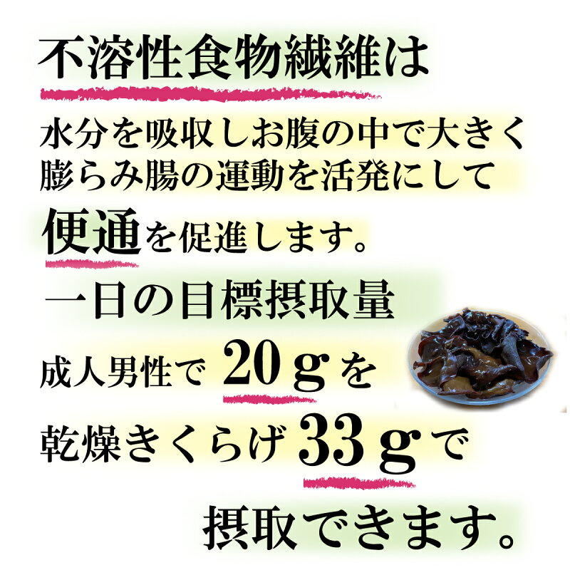 きくらげの食物繊維4