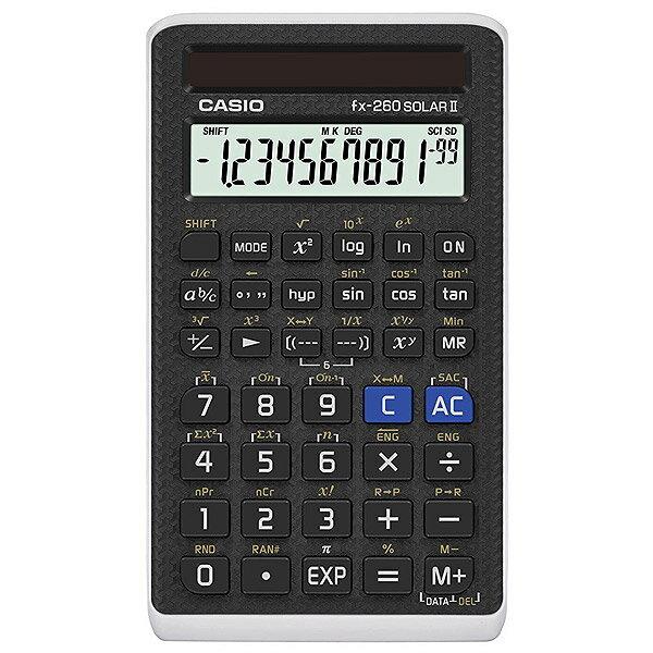 CASIO FX-260 SOLARII-S-IH【3個セット】fx-260 Solar 2 10+2桁 関数電卓並行輸入品※メール便のみ
