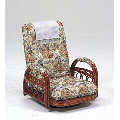 【送料無料!】ハギハラスリーアイ 籐ギア付回転座椅子ロータイプ RZ-921360度回転式で通気性...