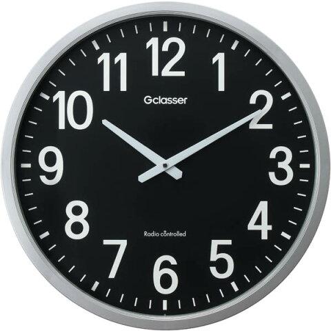 【送料無料!】キングジム 電波掛時計 ザラ-ジ 黒文字盤、約50cm GDK-001K見やすい大型サイズ!直径が約50cmあるから視認性抜群!