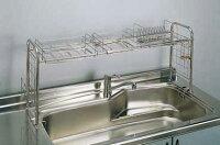 【送料無料!】おっくうな食器洗いは手際よく済ませたい。洗ったら、そのまま収納ラックで水切り。キチンとキッチン収納ラックKS-2712
