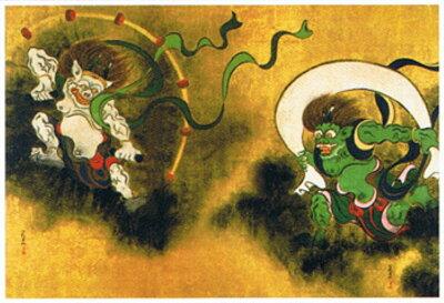 ◆希少品◆タンブラー付きミニパズル150ピース『日本画 風神雷神(俵屋宗達)』《廃番商品》