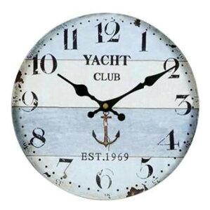 壁掛け 時計 ウォール クロック レトロ アンティーク シックな北欧風 西海岸 インテリア お洒落 リビング オフィスに 木製 直径30cm 【送料無料】tno-b89