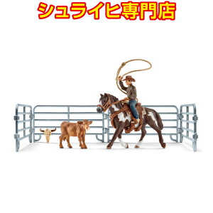 [Tienda especializada de Schleich] Schleich team roping cowboy 41418 animal figure horse club HORSE CLUB schleich