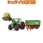 シュライヒ動物フィギュア42379トラクターとトレーラー