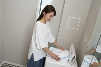 【クラボウランドリーム】布団カバーいらず日本製ホワイトブラウンベージュ温かい気持ちいい軽い肌ざわりふわふわふかふかすぐ乾くほこり出にくい洗濯ネット付き中わたエアーフレイク復元