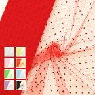 【全10色】フロッキードット15D|15デニールナイロンソフトチュール生地(50cm単位)