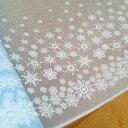 ラメ入り☆雪の結晶プリント入りチュール