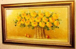 【送料無料】楽天ランキング1位獲得!「黄色い薔薇」と豪華なフレームはリビングにピッタリ!人...