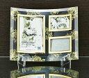 「ゴールデンローズ ガラスフォトフレーム (3ウィンドー)」   (フォトフレーム 写真たて 写真立て フォトスタンド)(結婚祝い ウエディング ウェディング)[フォトフレーム通販]