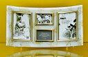 「ゴールデンローズ ガラスフォトフレーム (4ウィンドー・ホワイト)」   (フォトフレーム 写真たて 写真立て フォトスタンド)(結婚祝い ウエディング ウェディング)[フォトフレーム通販]
