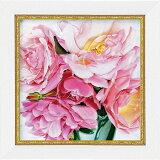 「ローズドラッシー」アニー バードラット【通信販売】(ミニゲル アートポスター[絵画通販])ピンク 花 ばら 薔薇 バラ 絵 絵画 【壁掛けフック付き】【絵のある暮らし】