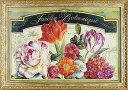 【代引不可・送料無料・お届け日時間指定不可】「ガーデン ビュー1」リサ オーディット ・花(静物)特殊ゲル加工アートポスター[絵画通販]【壁掛けフック付き】【絵のある暮らし】