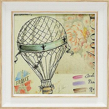 「バルーンスケッチブック」アンジェラ スターリング(【通信販売】アートポスター ミニゲル[絵画通販])フランス 気球【壁掛けフック付き】【絵のある暮らし】