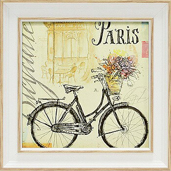 「バイスクルスケッチブック」アンジェラ スターリング(【通信販売】アートポスター ミニゲル[絵画通販])フランス 自転車【壁掛けフック付き】【絵のある暮らし】