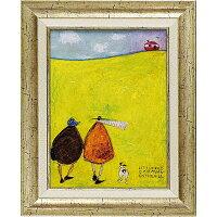 「リンゴは木から落っこちない」サムトフト・可愛い雰囲気の特殊ゲル加工アート[絵画通販]