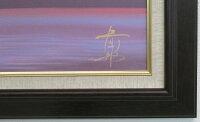 「赤富士」徳田春邦【送料無料/通信販売】(F10サイズ油彩画[油絵]・開運風水画・赤富士縁起画・ブラウン額[絵画通販])(富士山)【壁掛けフック付き】【絵のある暮らし】