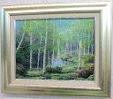 【送料無料】「白樺林」早瀬遼(F6サイズ油彩画[油絵](直筆油彩画)・ヒーリングアート・森林風景[絵画通販])【絵のある暮らし】