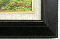 「忍野赤富士」川島孝之【送料無料/通信販売】(F6サイズ油彩画[油絵]直筆油彩画・開運風水画・赤富士縁起画・ブラウン額[絵画通販])(富士山)【絵のある暮らし】