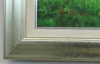 【送料無料】「陽光」戸田彰楽天ランキング1位獲得作品(F10サイズ油彩画[油絵](直筆油彩画)・ヒーリングアート・森林風景画[絵画通販])シルバーフレーム【絵のある暮らし】