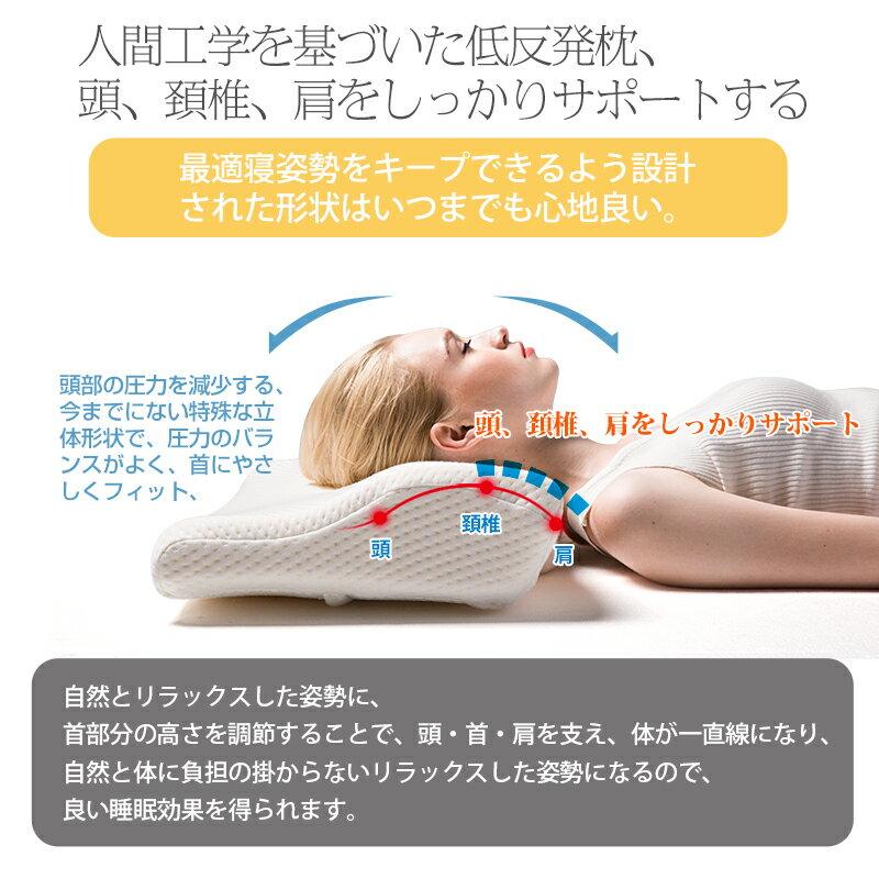 まくら 枕 マクラ 低反発枕 安眠 快眠枕 健康枕 健康まくら pillow ピロー 横向き枕 整体枕 低反発 横向き 首 肩 解消グッズ いびき 首こり 頚椎サポート 呼吸が楽 人間工学 誕生日 プレゼント ギフト 贈り物 IKSTAR 正規品