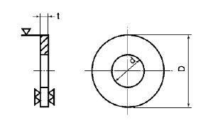丸ワッシャー(特寸)表面処理(GB(茶ブロンズ))材質(ステンレス)規格(13.5X60X6)入数(30)