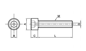 エアー抜きキャップスクリュー(全ねじ)材質(ステンレス)規格(16X60)入数(30)