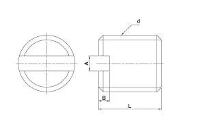 ステンレス(−)止めねじ(平ねじ)表面処理(GB(茶ブロンズ))材質(ステンレス)規格(8X10)入数(500)
