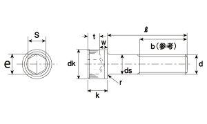 六角穴付きボルト(キャップスクリュー)(細目,・。;l、kj)規格(18X80)入数(30)