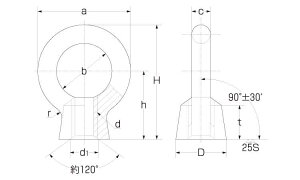 アイナット材質(SUS316)規格(M24)入数(4)