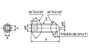 HS(とがり先クローム鉄10X16(入数500