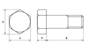 六角ボルト(半■材質(SUS316L)■規格(12X100(ハン)■入数50