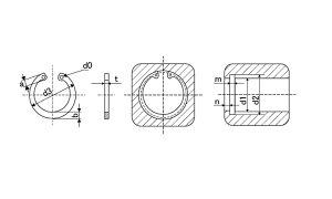 C形止め輪(穴用(大陽■表面処理(SUS)■材質(ステンレス)■規格(M20)■入数1000
