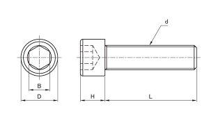 PVDFキャップボルト■材質(鉄)■規格(12X25)■入数50