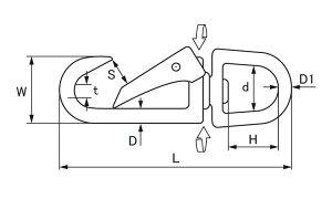 ナスカンスナップ(クローズ■表面処理(MMステン)■材質(ステンレス)■規格(CD-5)■入数20